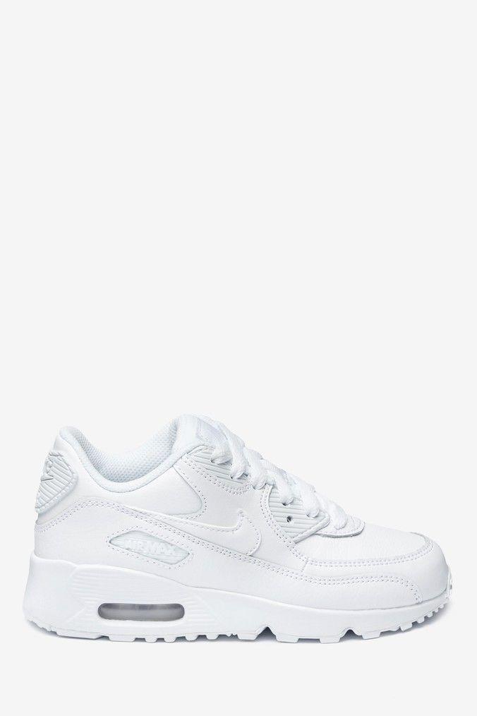 Boys Nike Air Max 90 Junior Trainers White | Nike air max