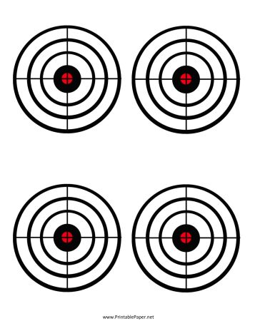 Black Circles Target Paper printable at home! nice!! money saver for target practice...