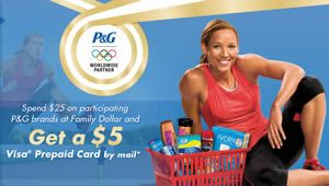 FREE $5 Prepaid Visa Card w/p at Family Dollar on http://www.icravefreebies.com