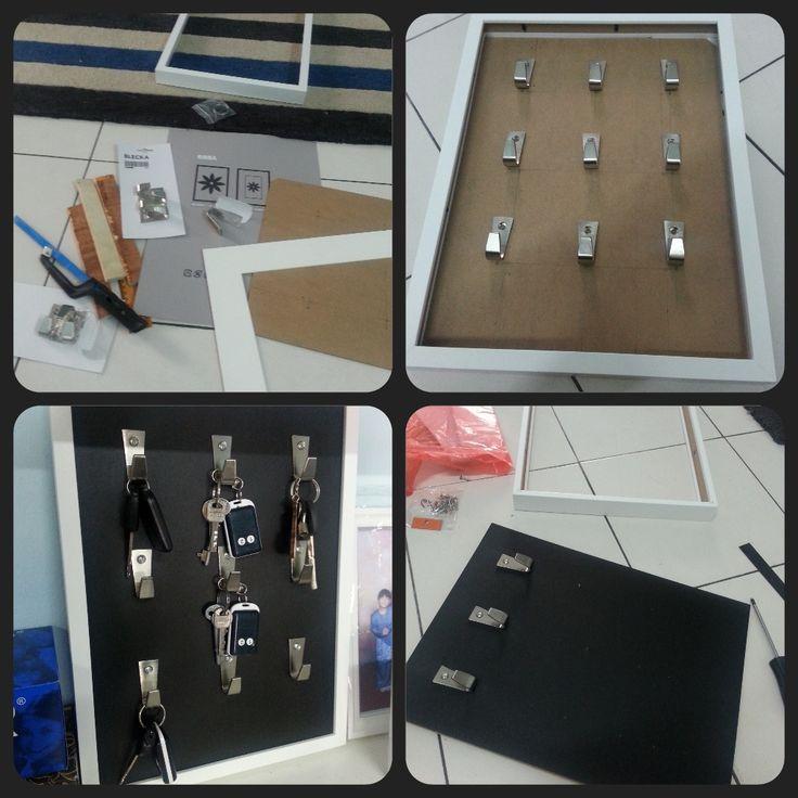 RibBlecka (Ribba+Blecka) key holder - IKEA Hackers