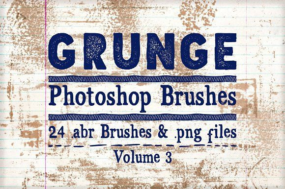 Grunge Photoshop Brushes Vol 3 by Clikchic Designs on @creativemarket