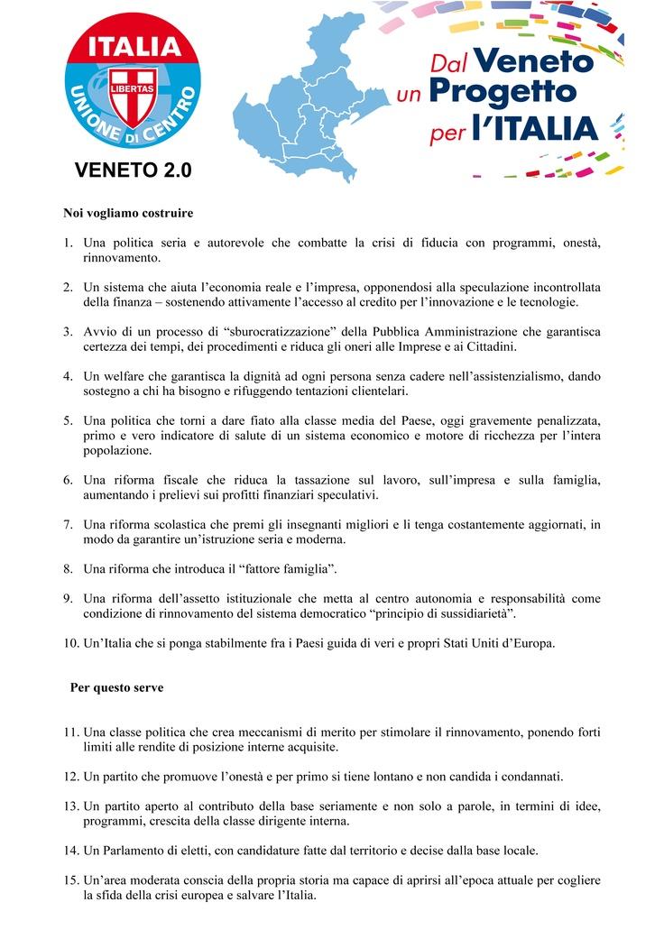 Manifesto Politico Udc Veneto 2.0