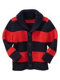 chunky stripes cardigan for baby