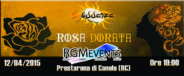 Suddanza Live in Prestarona di Canolo (RC) il 12 aprile 2015 alle 19:00 - RGM EVENTS = Audio - lights - promotion - artists