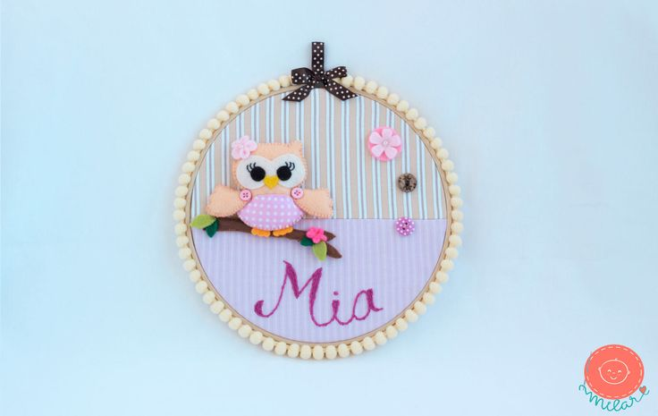A personal favorite from my Etsy shop https://www.etsy.com/listing/507073304/nursery-hoop-baby-name-3d-wall-art