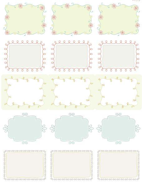 doodle label printables - Cerca con Google