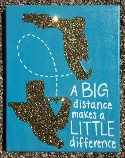 Custom Long Distance State canvas / Big Little present www.etsy.com/...?