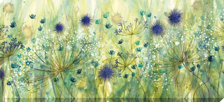 Cornflower mist panel by Catherine Stephenson