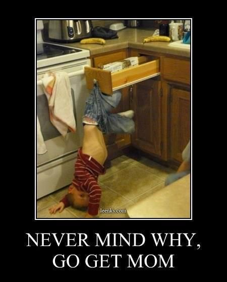 Lol! My kids have done this too.