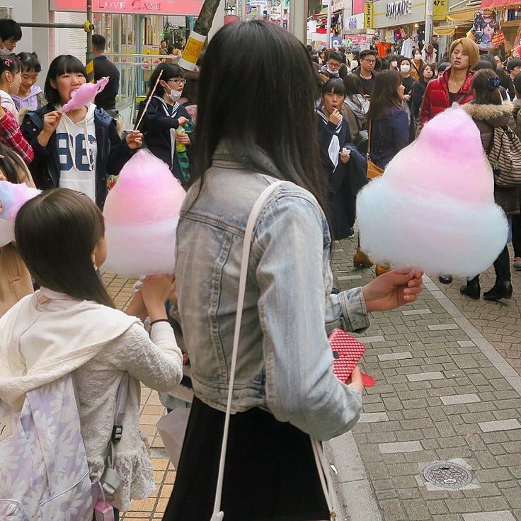 A very popular cotton candy in Harajuku.