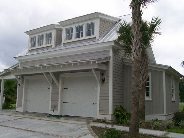Detached Garage With Bump Out And Finished Room Above.