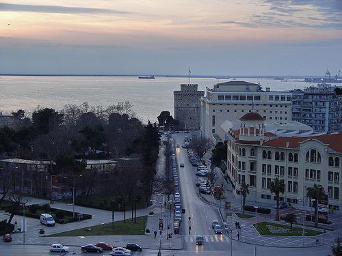 White Tower Thessaloniki. View from the OTE Tower