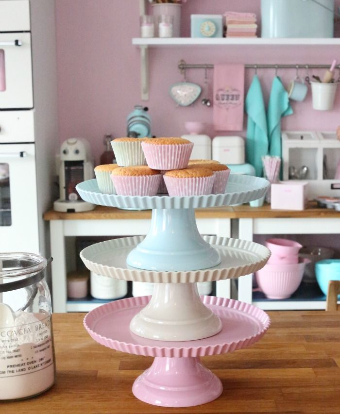Is there any baking element prettier than a collection of cake stands? Survey says: no.