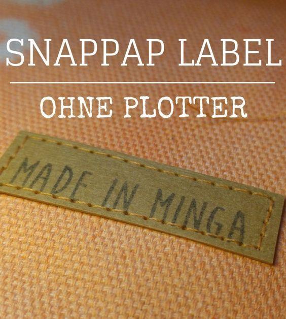 Label selber machen aus Snappap. Einfach stempeln mit Stoff-Farbe