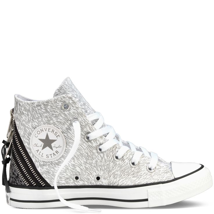 Chuck Taylor Metallic Tri Zip white