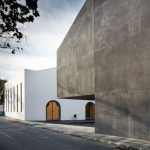 Contemporary arts centre on a Portuguese isle  contrasts volcanic stone with concrete