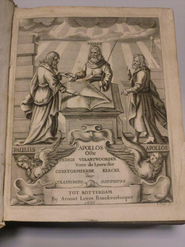 Franciscus Ridderus-Apollos, antieke boeken, antiqbook, old and rare books