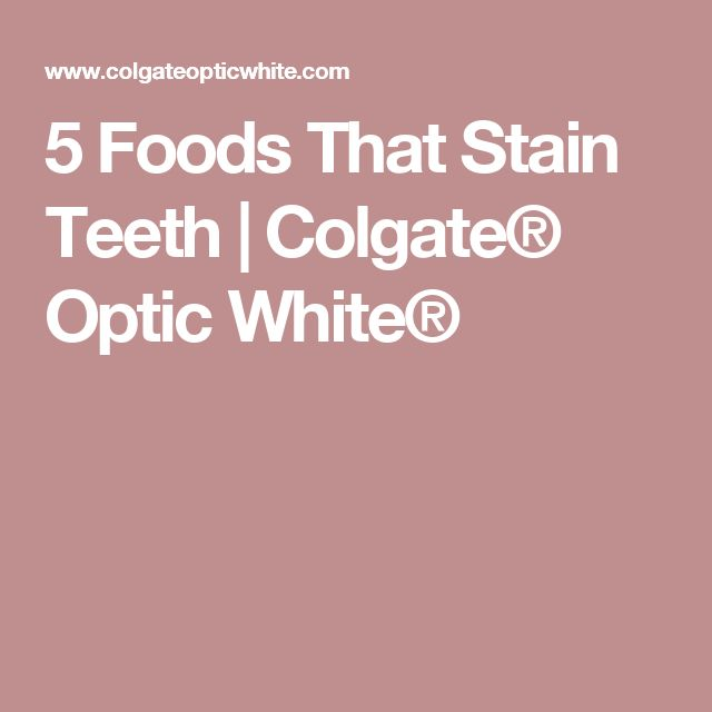 5 Foods That Stain Teeth | Colgate® Optic White®