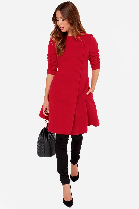 Gauguin Red Frock Coat at Lulus.com!