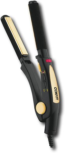 "Conair - 3/4"" Ceramic Hair Straightener - Black, CS4VCS"