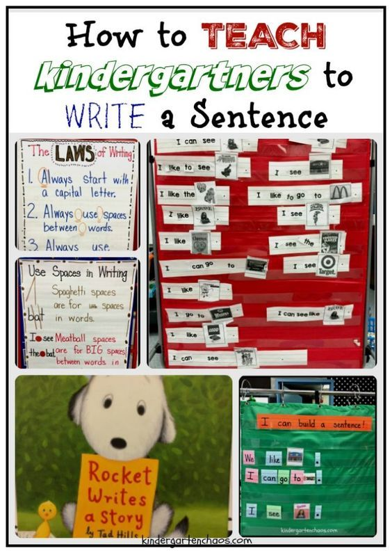 Teaching Kindergartners How to Write a Sentence