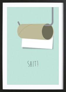 Shit - Trabolt Design - Affiche encadrée - bois