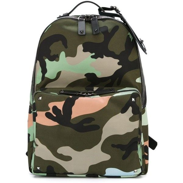 Valentino Garavani camouflage backpack Tiziana Fausti ❤ liked on Polyvore featuring bags, backpacks, camouflage backpack, knapsack bags, camouflage bag, camo bag and backpack bag