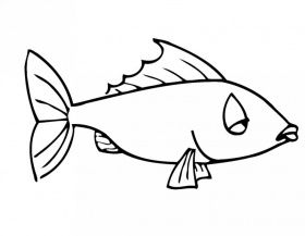 Fish Sad Coloring Pages