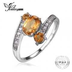 [ 20% OFF ] Jewelrypalace 925 Sterling Silver 0.9Ct Natural Citrine 3 Stone Anniversary Ringwomen Party Fine Jewelry 2016 Brand New