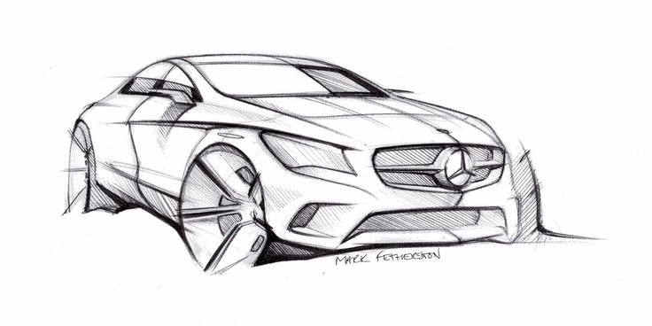 Mercedes-Benz CLA-Class Design Sketch - Car Body Design