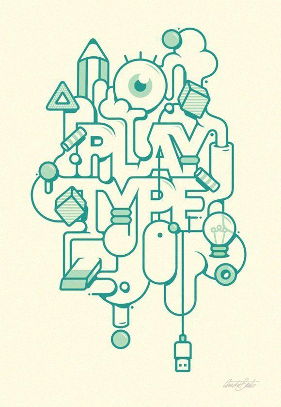50 créations autour de la typographie et du graphisme | BlogDuWebdesign