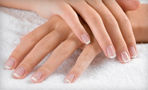 Groupon - One Regular or Gel Manicure at Fantacy Nails at Changes
