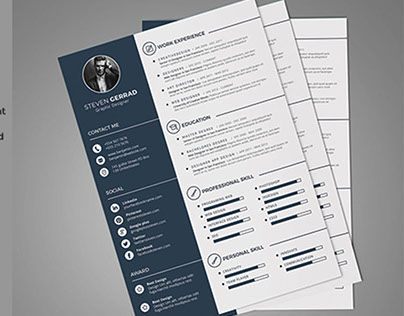 """Check out new work on my @Behance portfolio: """"Clean CV / Resume"""" http://be.net/gallery/38296363/Clean-CV-Resume"""