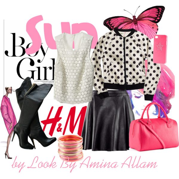 """Pink accessories"" by Look By Amina Allam"