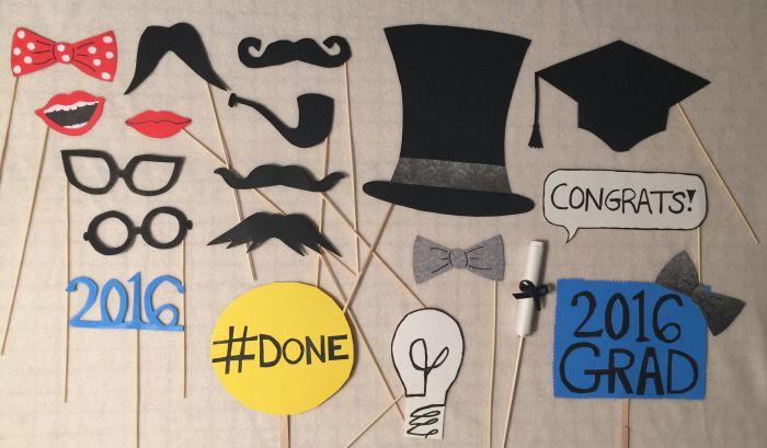 Graduation Photo Booth Props by Events Made Easy. http://isntitawonderfullife.com/2016/03/12/photo-booth-props/
