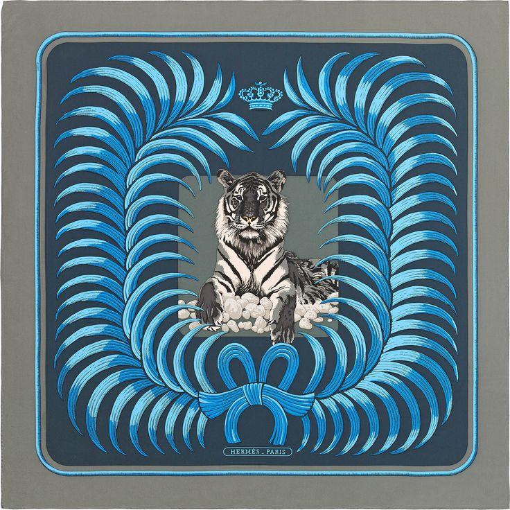 Silk Square Scarf - Tiger of the jungle by VIDA VIDA xD073WwMdY