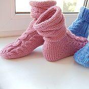 Вязаные женские носки из шерсти 100%.Подарок на китайский Новый Год – купить или заказать в интернет-магазине на Ярмарке Мастеров   Носки из красной шерсти с косами, теплые и…