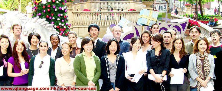Group of Q Language English Course Students & teachers