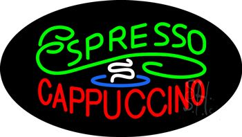 Stylish Espresso Cappuccino Animated Neon Sign