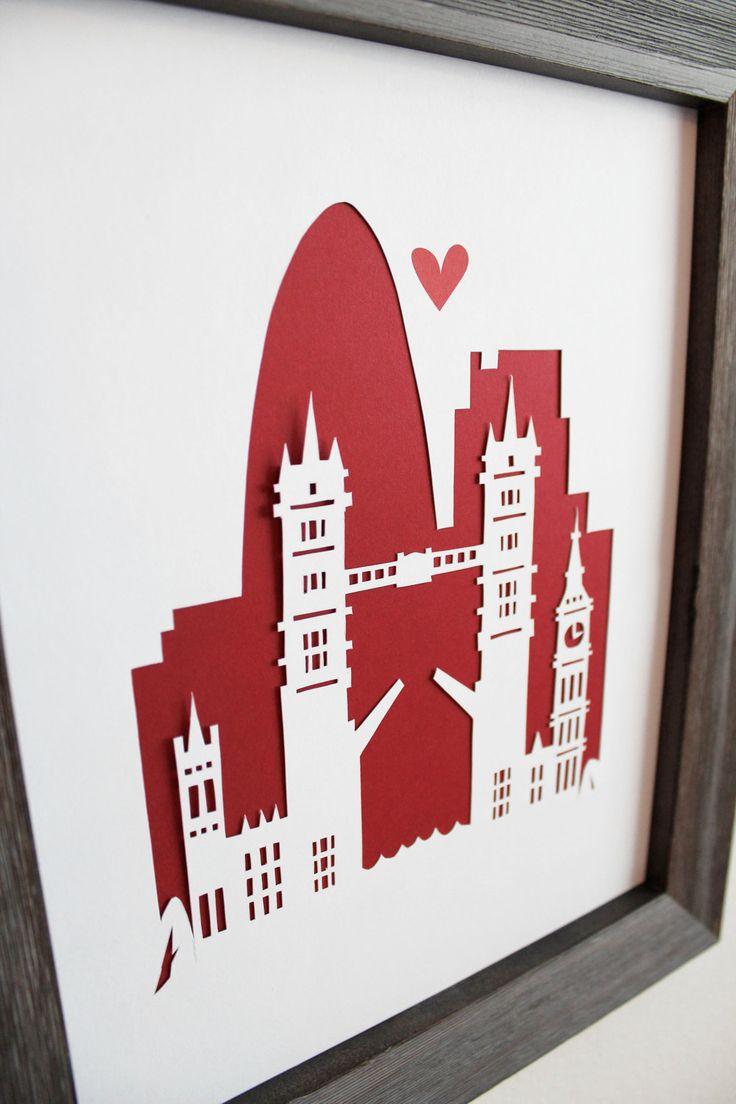 London. England - London Bridge.  Personalized Gift or Wedding Gift. $33.00, via Etsy.