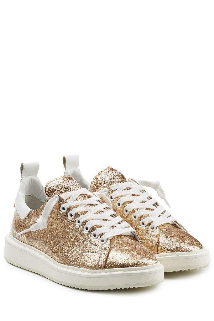 #Golden #Goose #Sneakers #Starter aus #Leder mit #Pailletten #> #Gold für #Damen - Glamour > Upgrade für unsere Lieblings > Schuhe: die weißen Sneakers aus Leder von Golden Goose schmücken sich und Sie mit funkelnden Pailletten  >  Goldfarbene Pailletten, weißes Leder, runde Zehenkappe, Schnürsenkel  >  Innensohle aus Leder, weiße Gummisohle  >  Stylen wir mit Boyfriend > Jeans und einem Parka