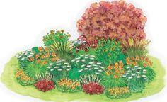 Zum Nachpflanzen: Taglilien-Beet in harmonischen Farben -  Sobald sich die ersten Blüten der Taglilie öffnen, steht dem Sommer nichts mehr im Wege. Und tatsächlich verwöhnt uns diese herrlich unkomplizierte Staude vom frühen bis in den späten Sommer hinein mit immer neuen Blüten.