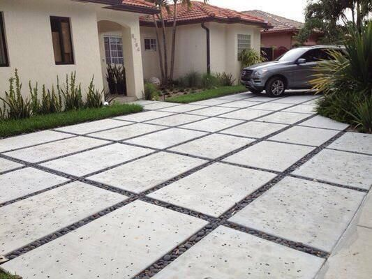 Decorative Cement Slabs : Best driveway ideas images on pinterest