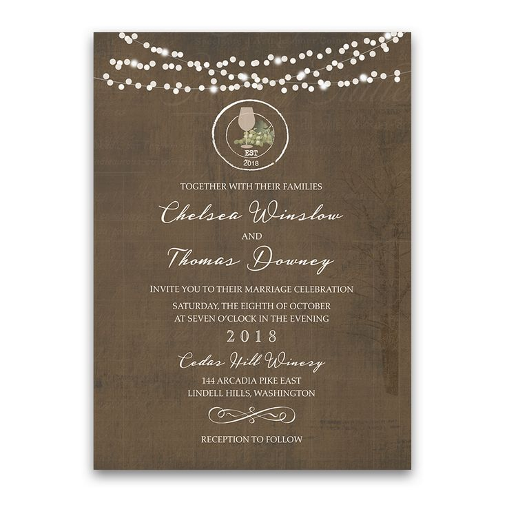 rustic vintage winery vineyard wedding invitations rustic vintage winery vineyard wedding invitations your vineyard - Winery Wedding Invitations