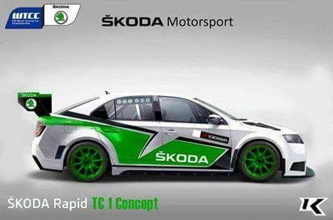 #skoda #rapid #rally #rallye #motorsport #wtcc #koncept
