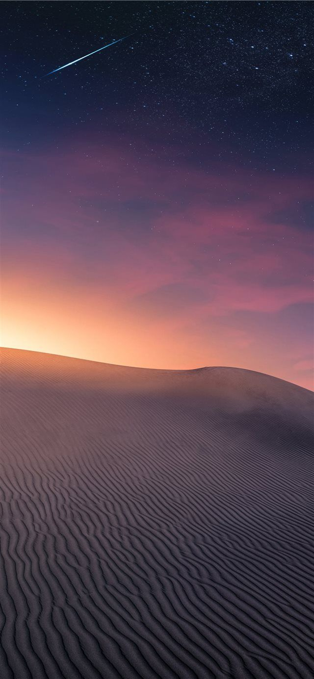 Desert Landscape Sunset And Comet Iphone X Wallpaper Star Dune