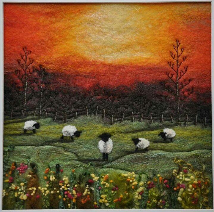 Amazing felt art by Sue Lewis