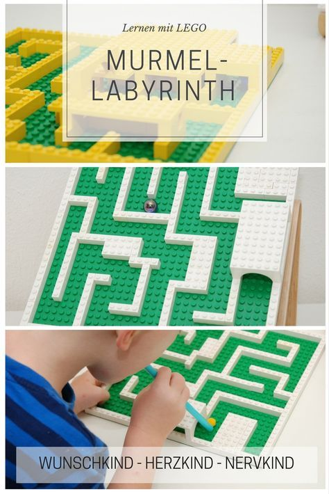 Learning with Lego: The marble labyrinth appeals to many learning areas. Spatial thinking, anticipatory thinking, concentration, endurance, eye-hand cognition …