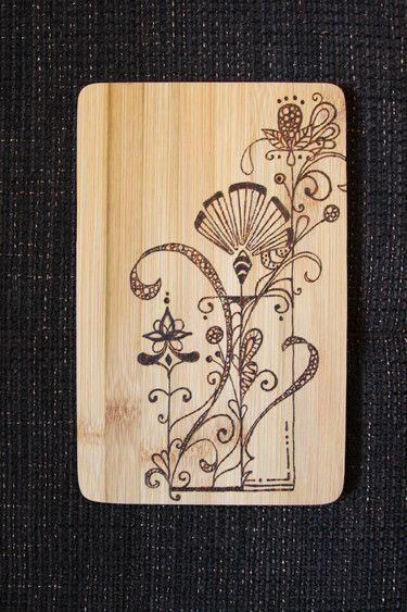 "Feeble Frühstücksbrettchen ""Blumengeländer"" , handmade chopping board"