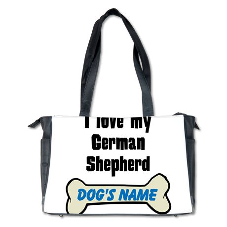 I Love My German Shepherd (Custom) Diaper Bag on CafePress.com